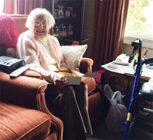 Photo of happy Meals on Wheels recipient Antoinette