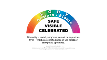 Logo for Safe-Visible-Celebrated LGBT Seniors Program